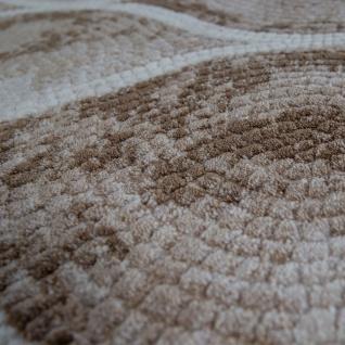 Wohnzimmer-Teppich Im Orientalischen Mosaik-Design, Vintage-Kurzflor In Beige - Vorschau 3