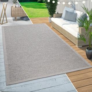 In- & Outdoor Teppich Balkon Terrasse Küchenteppich Wellen Muster Modern Beige