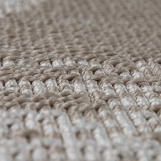 In-& Outdoor Teppich Balkon Küchenteppich Vintage Orient Muster Beige Creme - Vorschau 3