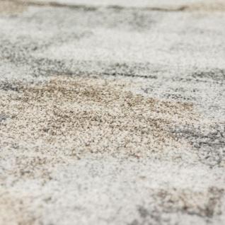 Designer Teppich Wohnzimmer Webteppich Kariert Webteppich In Grau Creme - Vorschau 3