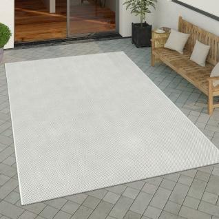In- & Outdoor Teppich Küchenteppich Einfarbiges Design Sisal Optik Modern Creme