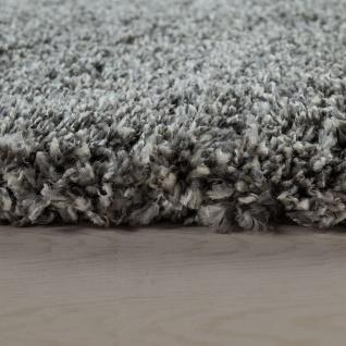 Hochflor-Teppich, Shaggy-Stil, Weicher Flor Einfarbig In Modernem Grau - Vorschau 2