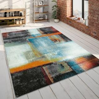 Wohnzimmer-Teppich, Kurzflor-Teppich Mit Abstraktem Muster Farbverlauf, In Bunt