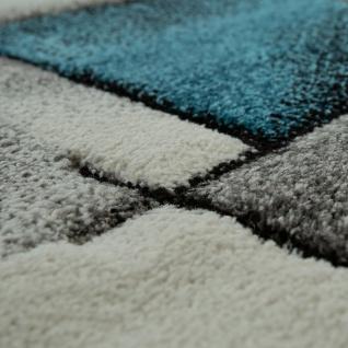 Designer Teppich Mit Konturenschnitt Moderne Muster Abstrakt Grau Türkis Meliert - Vorschau 3