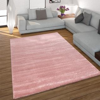 Wohnzimmer-Teppich, Einfarbiger Kurzflor-Teppich, Modern In Pink Rosa