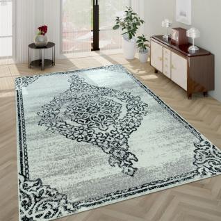 Wohnzimmer-Teppich, Kurzflor-Teppich Mit Used-Optik Barock-Stil, In Beige