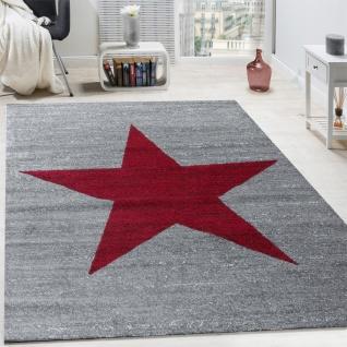 Wohnzimmer Teppich Mit Stern Muster, Moderner Kinder- und Jugendzimmer Kurzflor - Vorschau 4