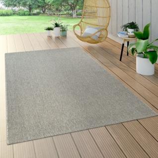 In- & Outdoor Flachgewebe Teppich Sisal Optik Natürlicher Look Einfarbig Grau