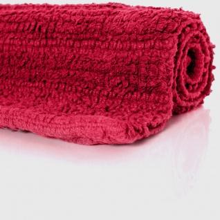 Badematte Badteppich Badezimmerteppich aus Baumwolle Einfarbig in Rot - Vorschau 2