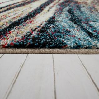 Wohnzimmer Teppich Bunt Abstraktes Muster 3-D Design Weich Robust Kurzflor - Vorschau 2
