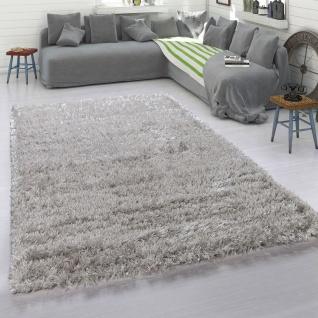 Hochflor-Teppich, Kuschelig Weicher Moderner Flokati-Teppich, Einfarbig In Grau