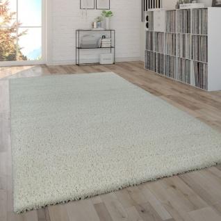 Hochflor-Teppich, Shaggy-Teppich, Moderner Wohnzimmer-Teppich In Beige Creme