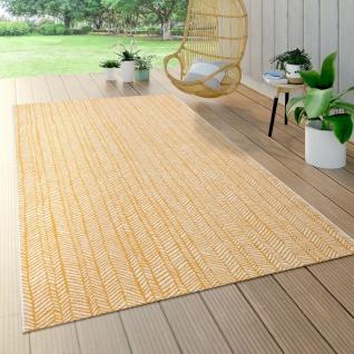 Outdoor Teppich Für Terrasse Und Balkon, Geometrisches Muster, Modern, In Gelb