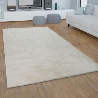 Teppich Wohnzimmer Kunstfell Plüsch Hochflor Shaggy Super Soft Waschbar In Creme