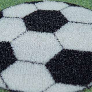 Kinder-Teppich, Spiel-Teppich Für Kinderzimmer Mit Fußball-Design, In Grün - Vorschau 3
