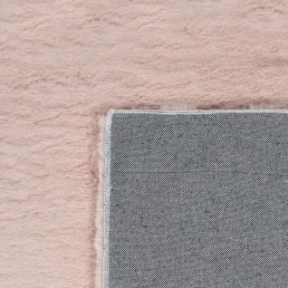 Teppich Wohnzimmer Kunstfell Plüsch Hochflor Shaggy Super Soft Waschbar In Pink - Vorschau 5