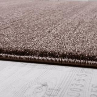 Designer Teppich Frieze Teppiche Luxuriös Schimmer Glanzeffekt In Uni Beige - Vorschau 2