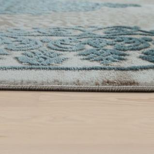 Wohnzimmer-Teppich, Kurzflor-Teppich Mit Orient-Muster, 3D-Look In Türkis - Vorschau 2