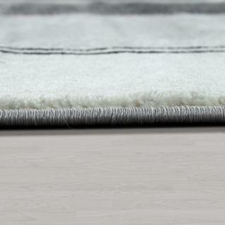 Edler Designer Wohnzimmer Teppich Kurzflor Farbverlauf Abstraktes Muster Grau - Vorschau 2
