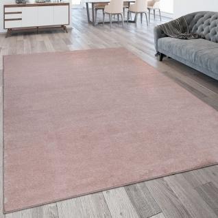 Wohnzimmer-Teppich, Kurzflor-Teppich Waschbar, Einfarbig In Rosa Pink