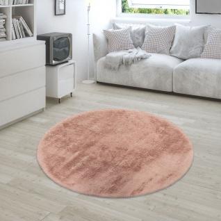 Teppich Wohnzimmer Kunstfell Plüsch Hochflor Shaggy Super Soft Waschbar In Pink - Vorschau 2