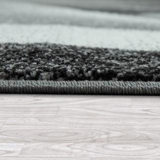Kurzflor Wohnzimmer Teppich Moderne Melierung Geometrische Muster Grau Anthrazit - Vorschau 2