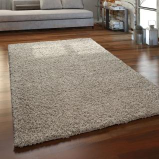 Hochflor Teppich Wohnzimmer Shaggy Langflor Modern Einfarbig Ohne Muster