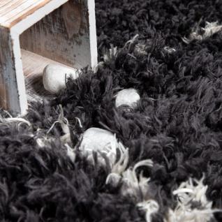 Hochflor Teppich Wohnzimmer Shaggy Skandi Rauten Muster Weich Flauschig Grau - Vorschau 3