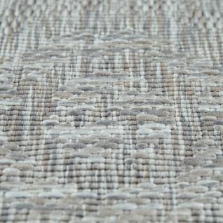 Runder In- & Outdoor-Teppich, Flachgewebe Mit Sisal-Look Skandi-Design, In Grau - Vorschau 3