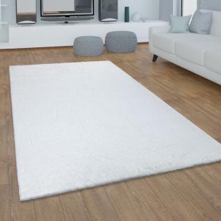 Teppich Wohnzimmer Kunstfell Plüsch Hochflor Shaggy Super Soft Waschbar In Weiß