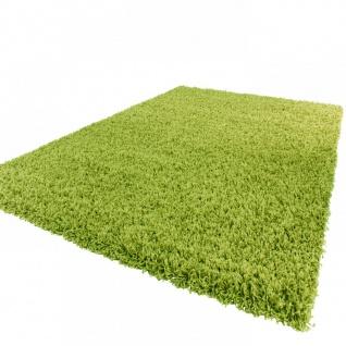 Shaggy Hochflor Langflor Teppich Sky Einfarbig in Grün