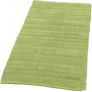 Badematte Badteppich Badezimmerteppich aus Baumwolle Einfarbig in Grün