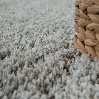 Hochflor-Teppich, Shaggy-Stil, Weicher Flor Einfarbig In Modernem Grau Taupe - Vorschau 3