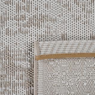 In-& Outdoor Teppich Balkon Küchenteppich Vintage Orient Muster Beige Creme - Vorschau 4