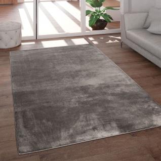 Teppich Wohnzimmer Kurzflor Modern Glanz Schimmer Effekt Weich Einfarbig Braun