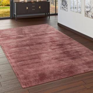 Teppich Handgefertigt Hochwertig 100% Viskose Vintage Optisch Meliert Blush Rosa - Vorschau 1