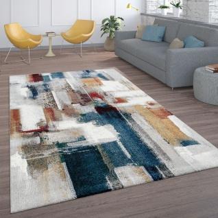 Teppich, Kurzflor-Teppich Für Wohnzimmer, Abstraktes Modernes Design, In Bunt