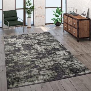 Teppich Wohnzimmer Kurzflor Modern Vintage Abstraktes Muster Glanz Optik Grün