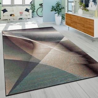 Teppich, Designer-Kurzflor Mit Farbverlauf Modernes Gemälde-Muster, In Bunt