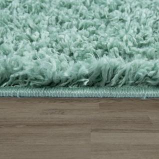Wohnzimmer Teppich Grün Hochflor Skandi Design Rauten Muster Shaggy Weich - Vorschau 2