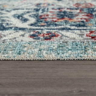 Outdoor Teppich Küchenteppich Balkon Terrasse Vintage Orient Muster Rot Blau Beige - Vorschau 3
