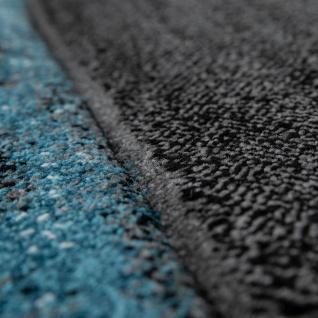 Designer Teppich Modern Konturenschnitt Geometrisches Muster Grau Türkis - Vorschau 3