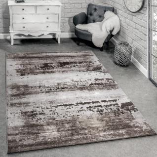 Designer Teppich Modern Wohnzimmer 3D Shabby Chic Design In Braun Grau