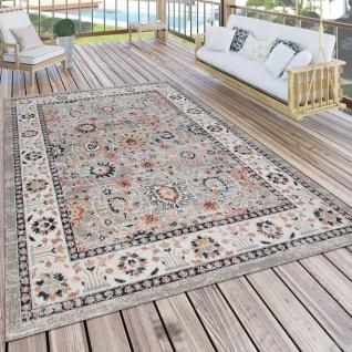 Outdoor Teppich Küchenteppich Terrasse Vintage Oriental Muster Beige Orange