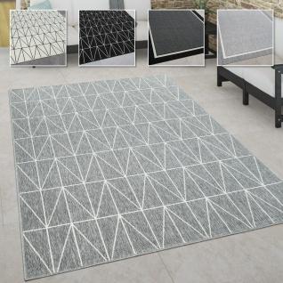 In- & Outdoor Teppich, Terrasse u. Balkon, Wetterfest Skandinavischer Stil