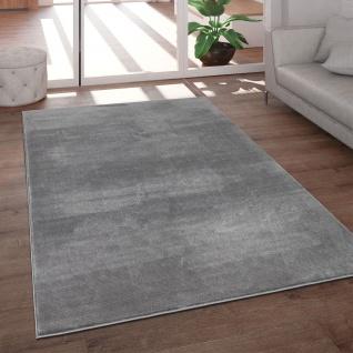 Teppich Wohnzimmer Kurzflor Modern Glanz Schimmer Effekt Weich Einfarbig Grau