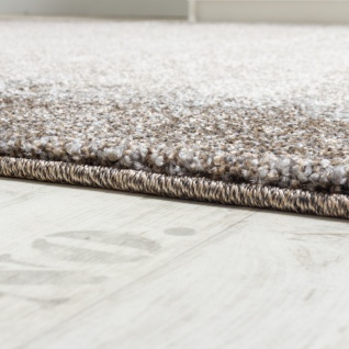 Teppich Meliert Modern Webteppich Hochwertig Mit Bordüre Beige Creme Grau - Vorschau 2