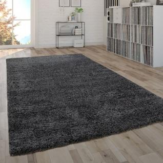 Hochflor-Teppich, Shaggy-Teppich, Moderner Wohnzimmer-Teppich In Grau Anthrazit