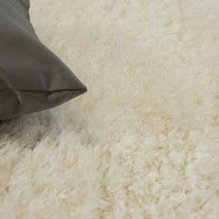 Hochflor Teppich Kuschelig Modern Shaggy Flokati Stil Gemütlich Uni In Weiß - Vorschau 3