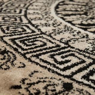 Designer Teppich Kurzflor Wohnzimmer Meliert Geometrische Formen Muster In Braun - Vorschau 3